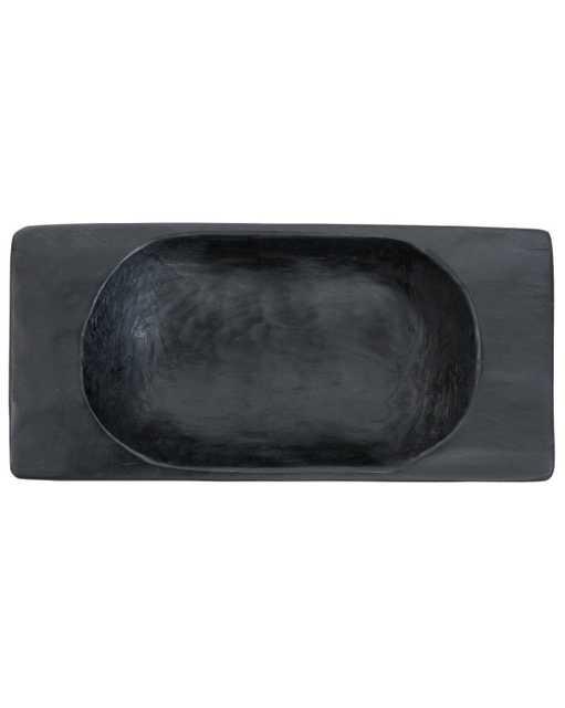 BLACK VINTAGE DOUGH BOWL - LARGE - McGee & Co.