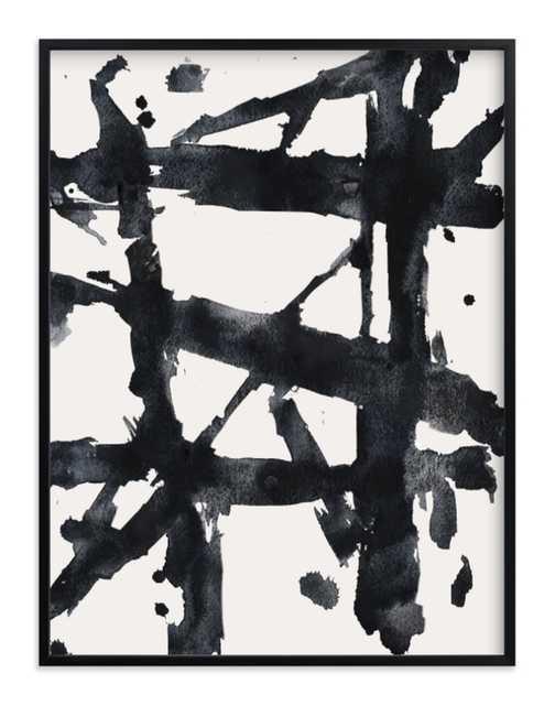 """Ink Bridges - 30"""" x 40"""", black frame - Minted"""