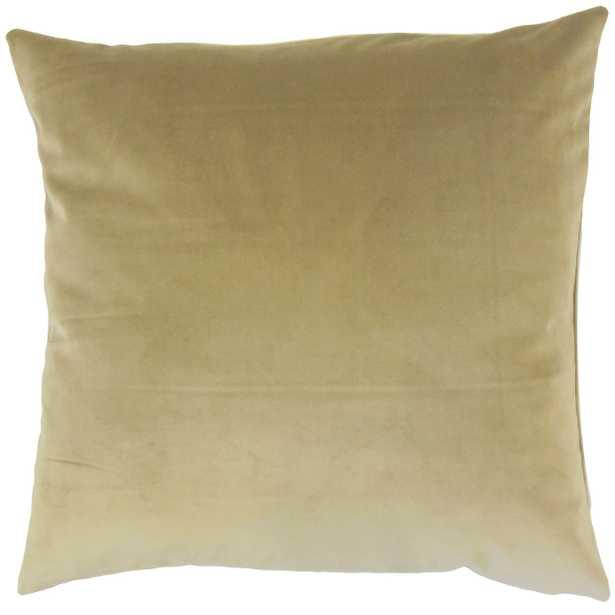 "Classic Velvet Pillow, Olive, 18"" x 18"" - Havenly Essentials"