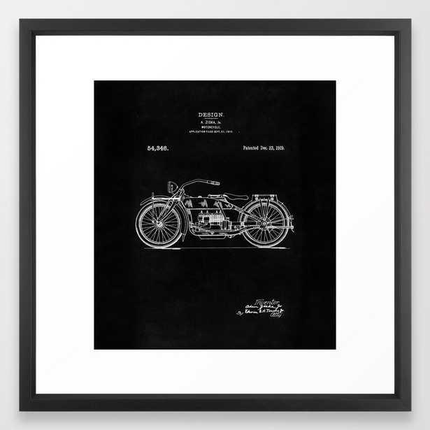 Motorcycle Blueprint 1919 Framed Art Print - Society6