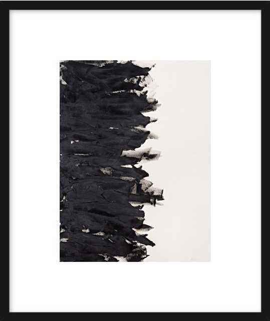 "Divide - 11 x 14"" Contemporary Thin Black Wood, frame width 0.5"", depth 0.5"" - Artfully Walls"