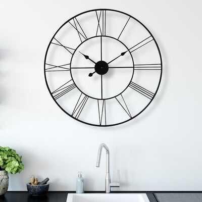 Melendez Wall Clock, medium - Wayfair