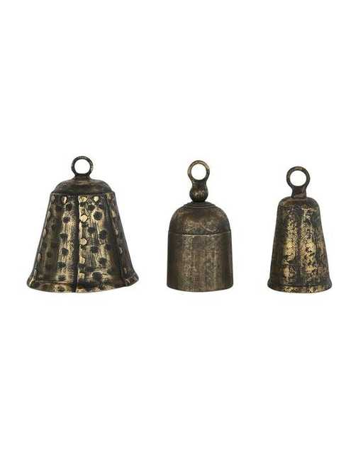 Aged Brass Bells (Set of 3) - McGee & Co.