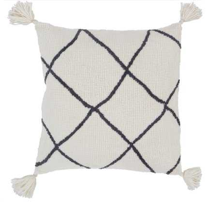 KATICA PILLOW, CREAM AND CHARCOAL- Poly Fill - Lulu and Georgia