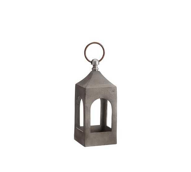 Caleb Handcrafted Metal Lanterns - Grey - Pottery Barn