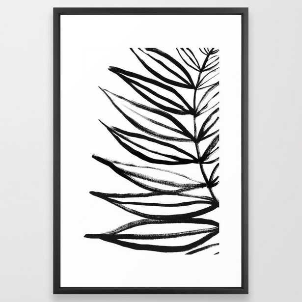 Palm leaf Framed Art Print By Martyna Jan - Society6