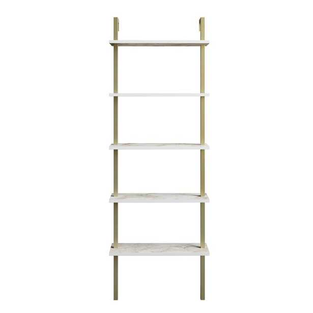 Elderton 68.5'' H x 23.6'' W Metal Ladder Bookcase - Wayfair
