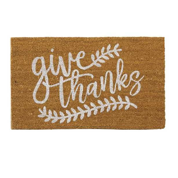 Give Thanks Thanksgiving Fall Harvest Doormat - Wayfair