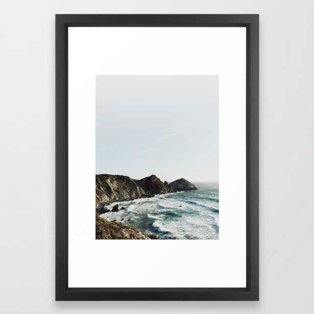 """Big Sur Framed Art Print - vector black, 15"""" x 21"""" - Society6"""