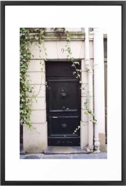 The Black Door at No. 9 , Black Vector, 26 X 38 - Society6