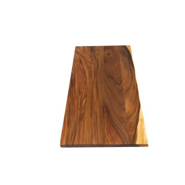 4 ft. L x 2 ft. 1 in. D x 1.5 in. T Butcher Block Countertop in Oiled Acacia with Live Edge - Home Depot
