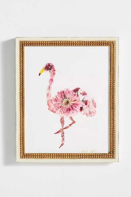 Floral Flamingo Wall Art - Anthropologie