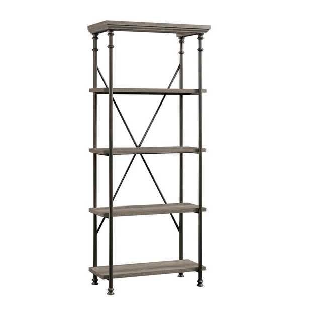 Northern Oak Oakside Etagere Bookcase - Wayfair