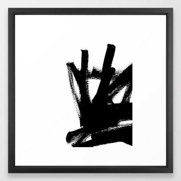 "Black & White Abstract 1 Art Print - 22"" x 22"" - Vector Black Frame - Society6"