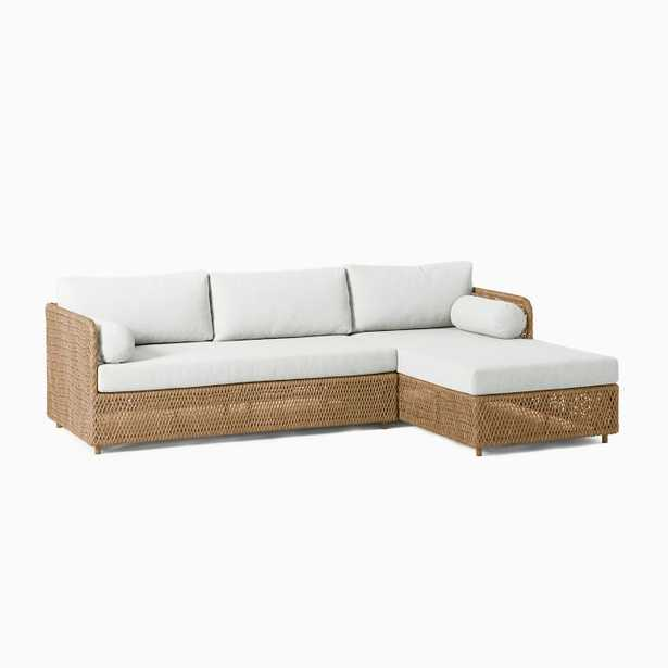 Coastal Outdoor 2-Piece Chaise Sectional - West Elm