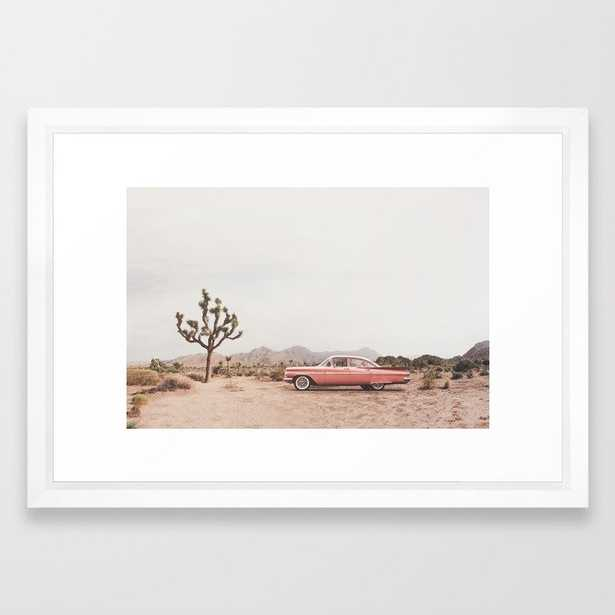 """California Living Framed Art Print by Sisi And Seb- conservation walnut 15"""" x 21"""" - Society6"""