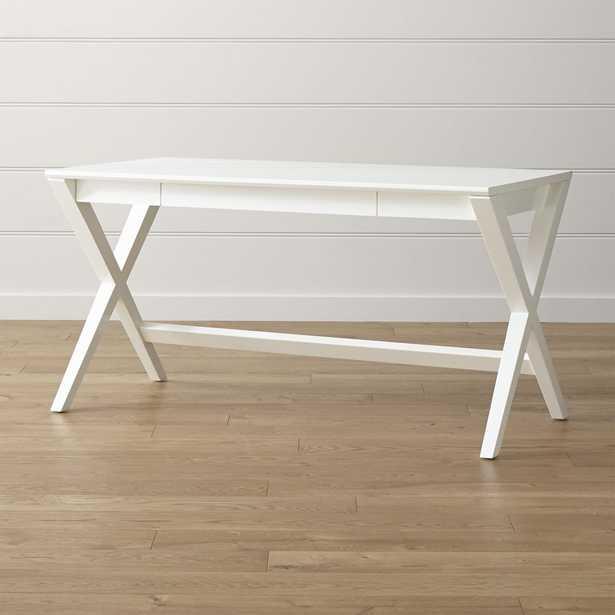 """Spotlight White 58"""" Desk - Crate and Barrel"""