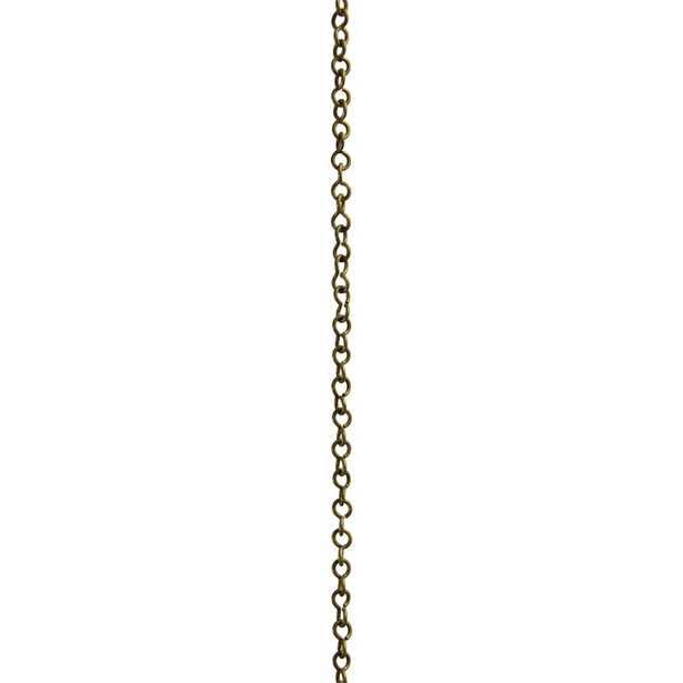 CH-20-AB Light Weight Un-Welded Wire Chain - by the foot - Wayfair