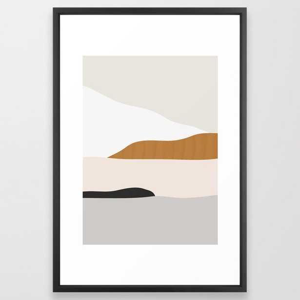 Minimal Art Landscape 2 Framed Art Print - Society6