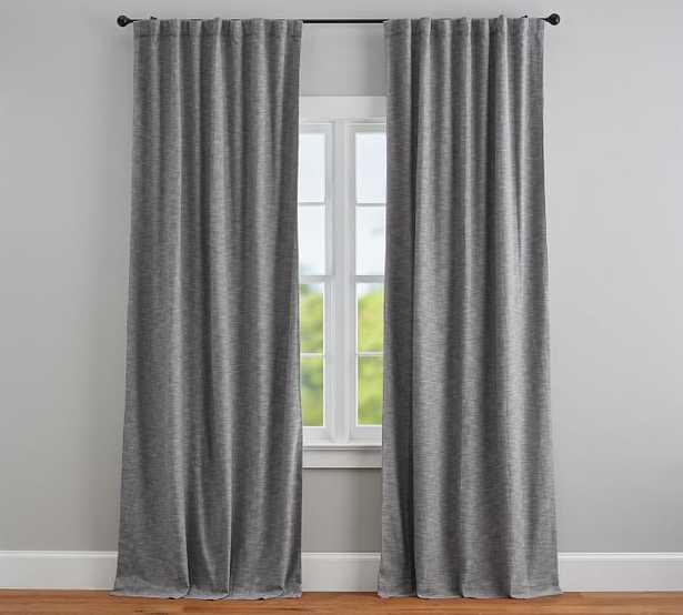 "Seaton Textured Blackout Curtain, 108"", Gray - Pottery Barn"