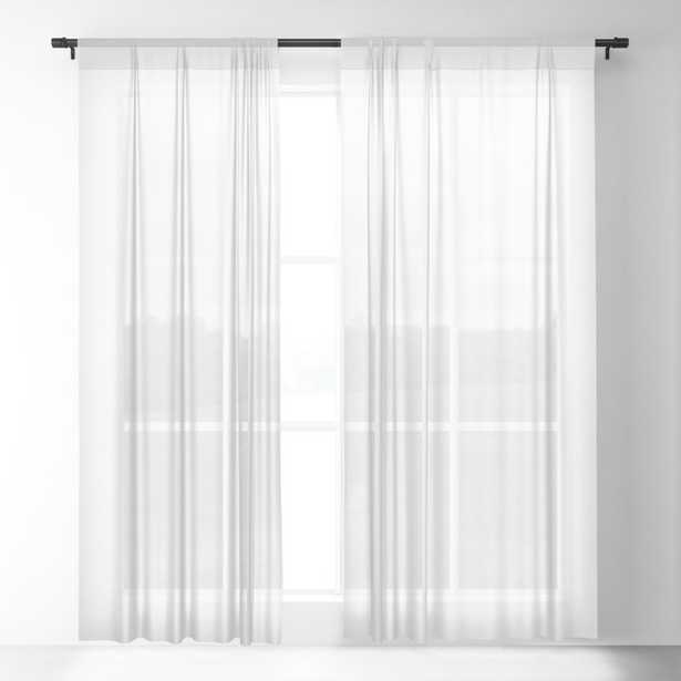 """Window Curtains - Basics. Solid White Sheer Curtain - 84""""x50"""" - Set of Two - Society6"""