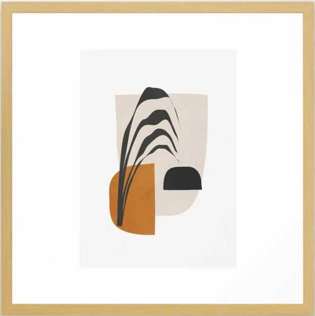 """Abstract Shapes 3 Framed Art Print, 22"""" X 22"""", Conservation Natural - Society6"""