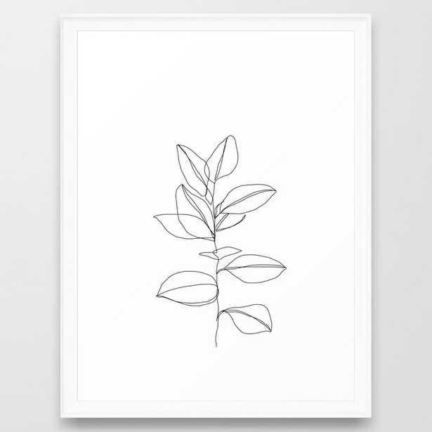 One line plant illustration - Scoop White, 20 x 26 - Society6