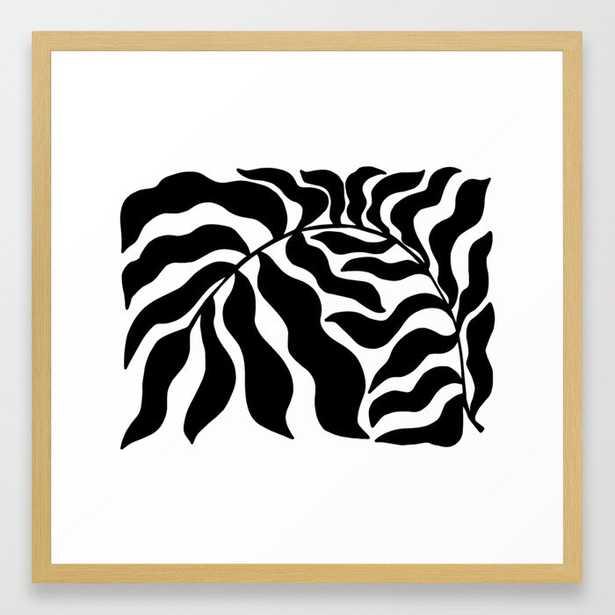 Reach   Black & White Framed Art Print - Society6