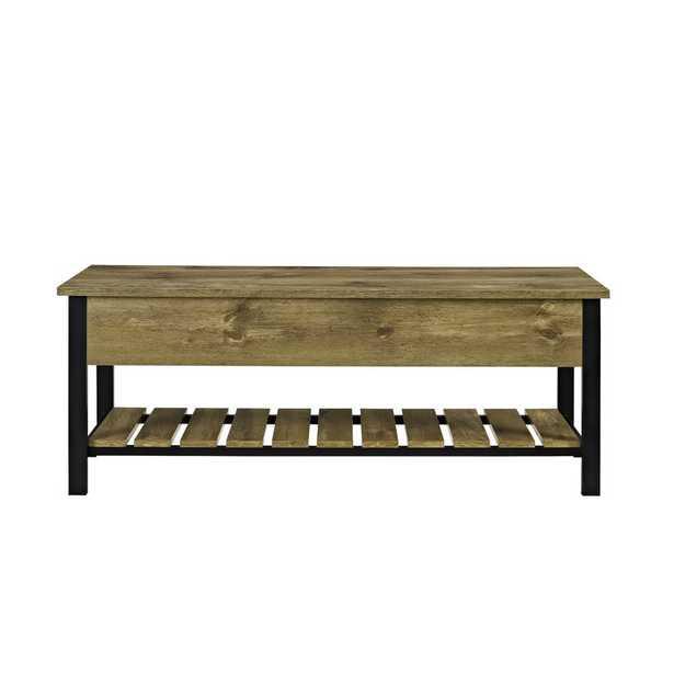 Savon Open-Top Wood Storage Bench - Wayfair