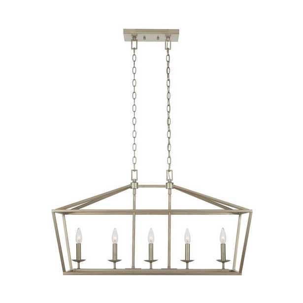 Weyburn 5-Light Antique Silver Caged Island Chandelier - Home Depot