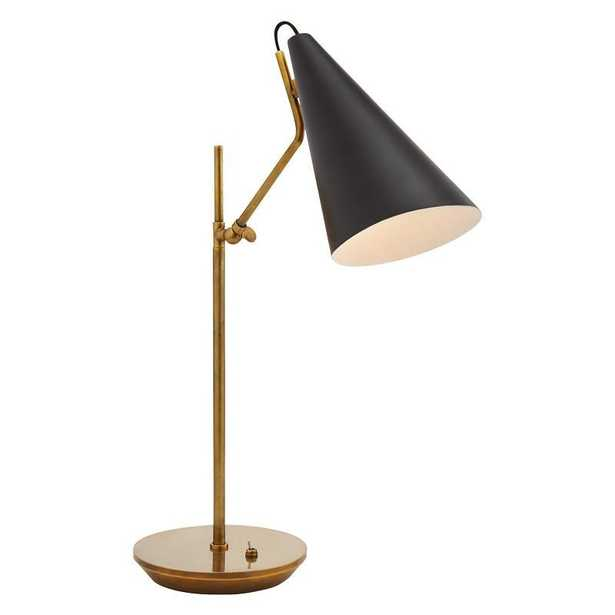 CLEMENTE TABLE LAMP WITH BLACK SHADE - McGee & Co.