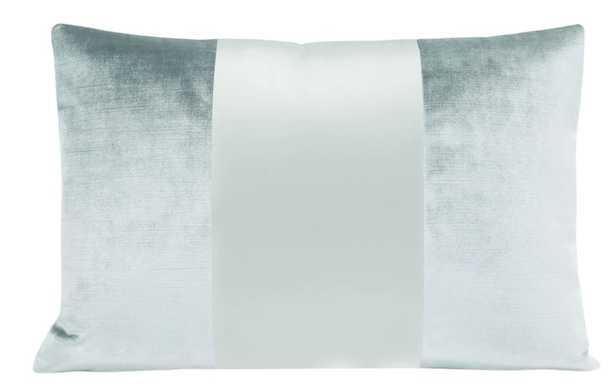 "The Little Lumbar :: MONOCHROMATIC Faux Silk Velvet // Spa Blue - 12"" X 18"" - Little Design Company"