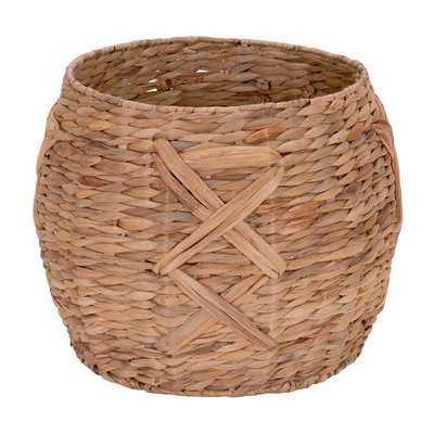 Water Hyacinth Round Wicker Basket - Wayfair
