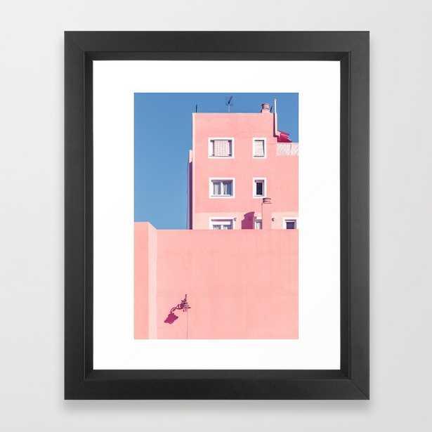 Sunny House And Blue Sky Framed Art Print - Society6
