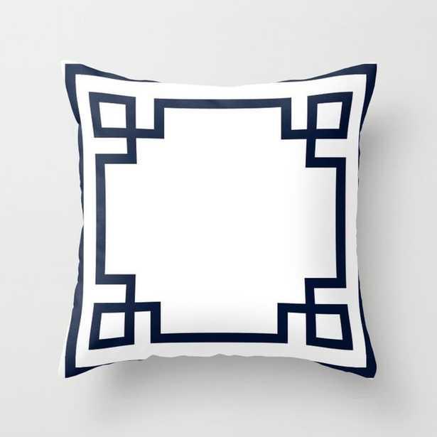 Greek Key Throw Pillow - Society6