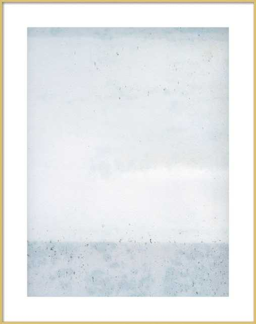 """Overast Soft Blues - 28"""" x 36"""", contemporary frost gold frame - Artfully Walls"""