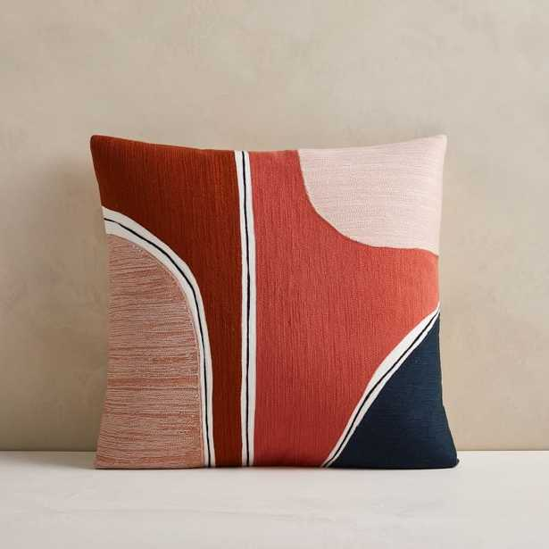 Crewel Outlined Shapes Pillow Cover - West Elm