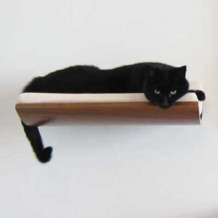 """5"""" Musson Curve Wall Mounted Cat Perch - Wayfair"""