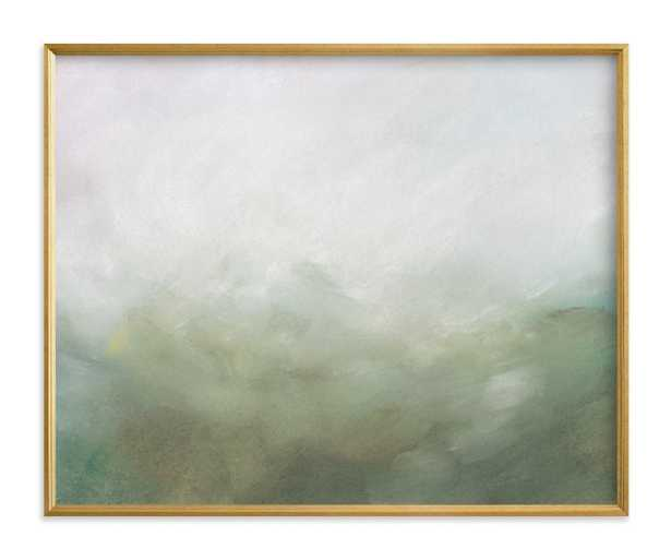Morning Mist Art Print 20x16, standard, gilded wood frame - Minted