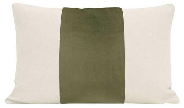 "The Little Lumbar :: PANEL Signature Velvet // Bay Leaf - 12"" X 18"" - Little Design Company"