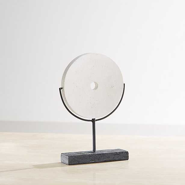 White Volcanic Ash Disc Sculpture - Crate and Barrel