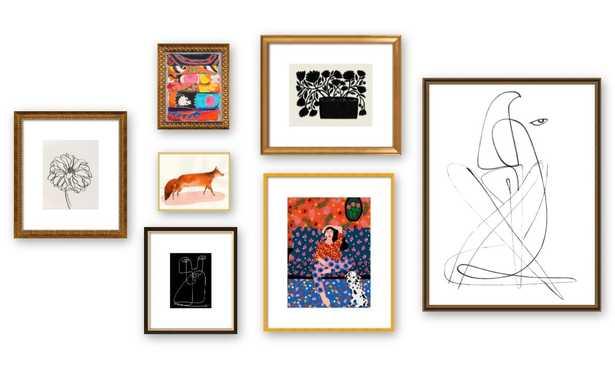 Gallery Wall - Bold and Abstract - Artfully Walls