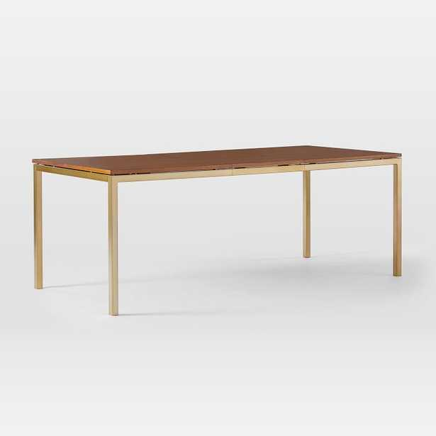 Frame Expandable Dining Table, Walnut, Antique Brass - West Elm