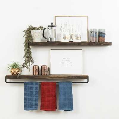 Drew 2 Piece Floating Wall Shelf - Birch Lane