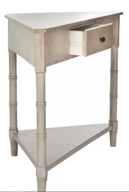 Regan Solid Wood 3 Legs End Table with Storage - Wayfair