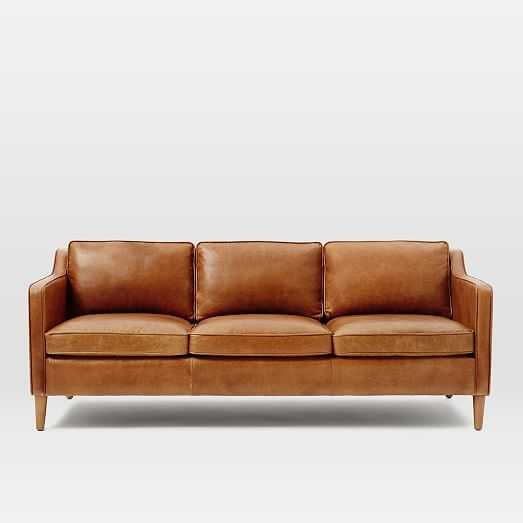 "Hamilton Leather Sofa (81""), Leather, Sienna - West Elm"