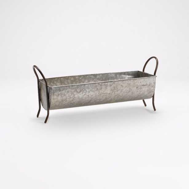 Anchoretta Rectangle Metal Footed Planter Box - Wayfair