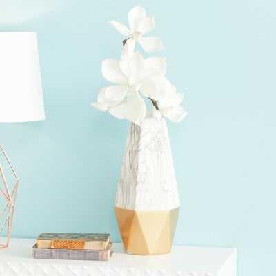 "Ceramic Floor Vase- Gold - 14"" H x 6"" W x 6"" D - Wayfair"