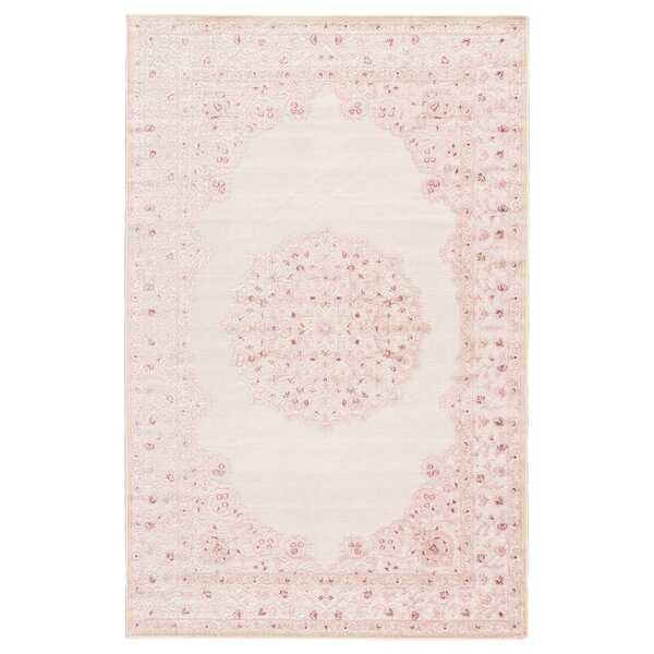 Fontanne Pink/White Area Rug - - Wayfair