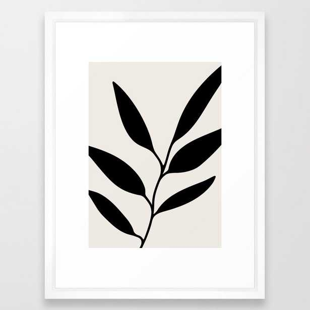 Abstract Leaf Branch Framed Art Print 2 - Society6